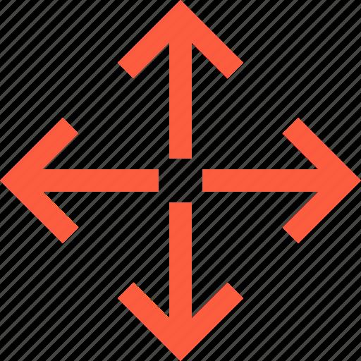 arrow, deploy, expansion, fullscreen, spreading, stretch icon