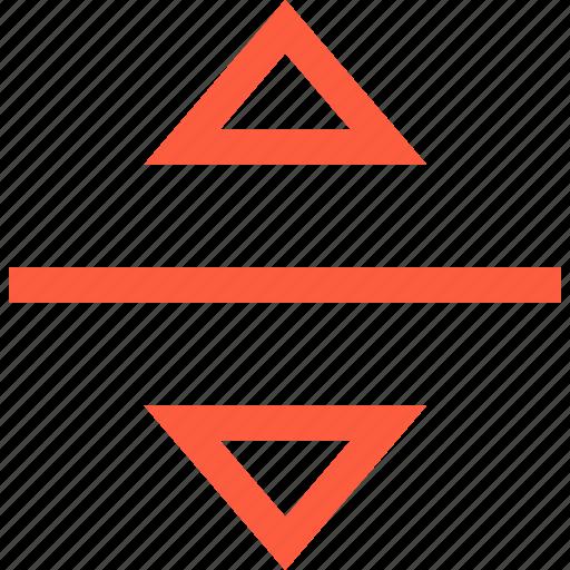 bar, down, elevator, triangle, up, way icon