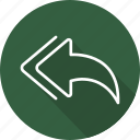 arrows, back, direction, interface, multimedia option, orientation, previous icon
