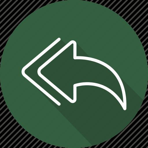 arrows, back, direction, interface, multimedia option, orientation, previous icon