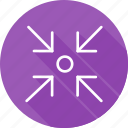 arrows, direction, focus, interface, multimedia option, orientation icon