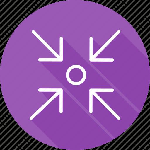 arrows, direction, focus, interface, multimedia option, orientation icon