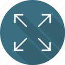 arrows, direction, expand, fullscreen, interface, multimedia option, orientation icon