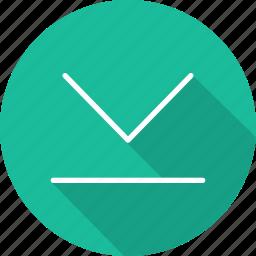 arrows, direction, down arrow, download, downloading, multimedia, orientation icon