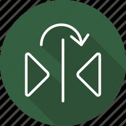 arrows, direction, expand, fullscreen, interface, multimedia option, orientation icon