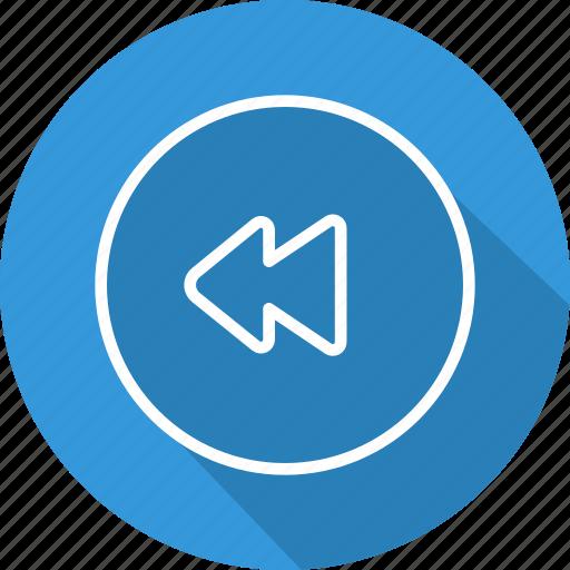 arrows, direction, interface, left, multimedia option, orientation, rewind icon