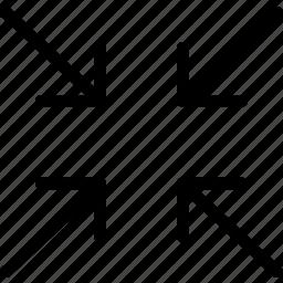 arrow, arrows, compress, compression, direction, navigation, pointer icon