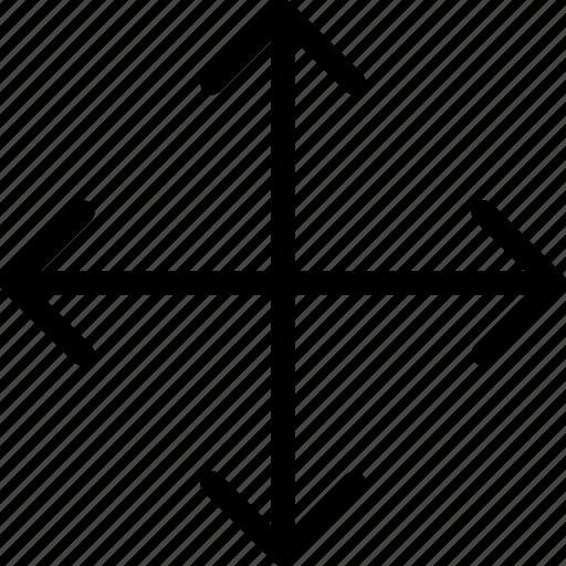 arrow, arrows, crossroads, direction, move, navigation, pointer icon