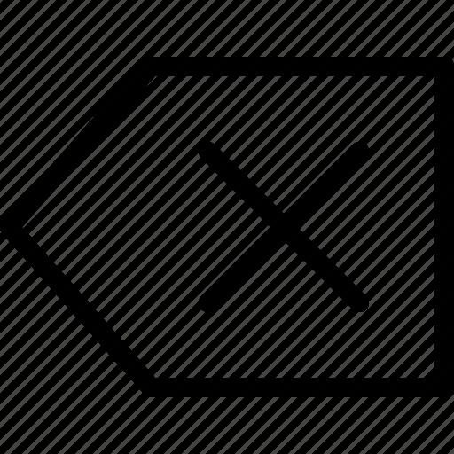arrow, cancel, close, cross, delete, remove, sign icon