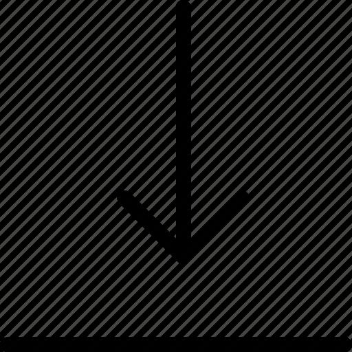 arrow, arrows, direction, down, download, file, storage icon