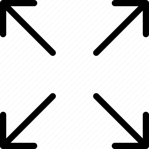 arrow, arrows, direction, expand, fullscreen, maximize, navigation icon