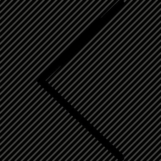 arrow, arrows, back, chevron, direction, left, navigation icon