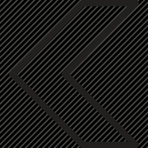 arrow, arrows, chevron, direction, left, navigation, pointer icon