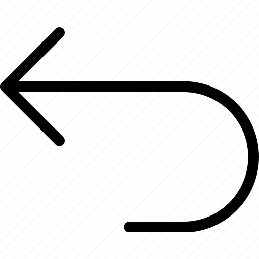 arrow, arrows, curve, direction, left, navigation, pointer icon