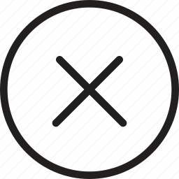 cancel, close, cross, delete, multiply, remove, sign icon