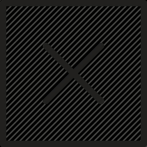 cancel, close, cross, delete, multiply, remove, stop icon