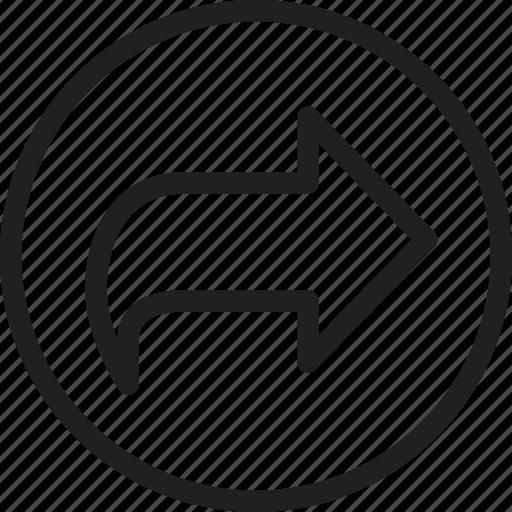 arrow, direction, forward, multimedia, next, player, pointer icon