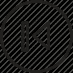 arrow, left, navigation, pointer, precious, prev, previous icon