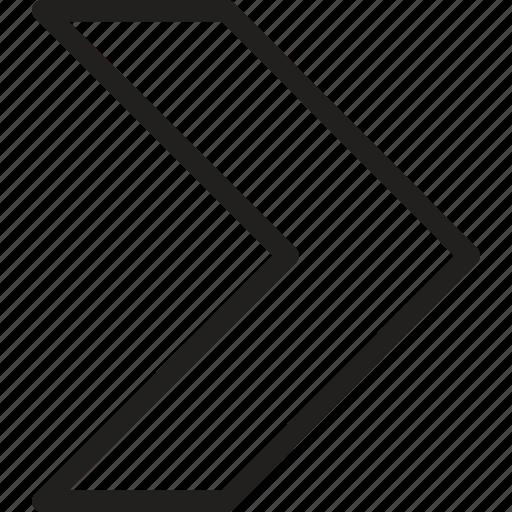 arrow, chevron, direction, move, next, pointer, right icon