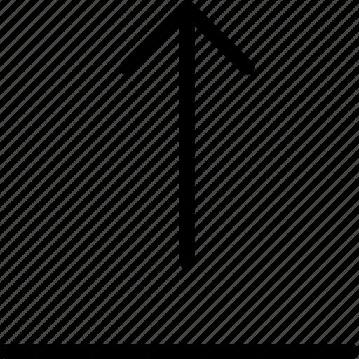 arrow, arrows, direction, navigation, up, upload, uploading icon