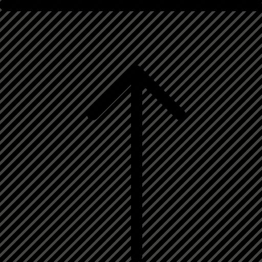 arrow, arrows, direction, navigation, storage, upload, uploading icon