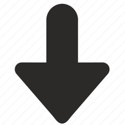 arrow, bold, bottom, direction, down icon