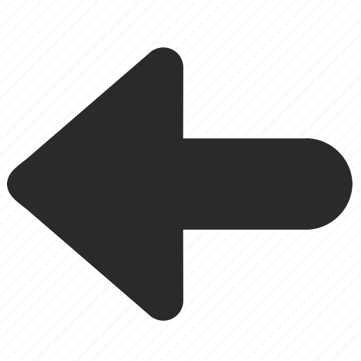 arrow, back, bold, direction, left icon