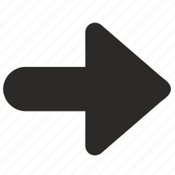 arrow, bold, direction, forward, next, right icon
