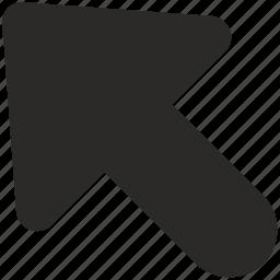 arrow, direction, left, northwest, top icon