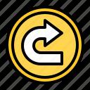 arrow, turn, right