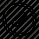arrow, down, left