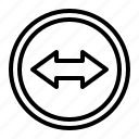 arrow, left, right