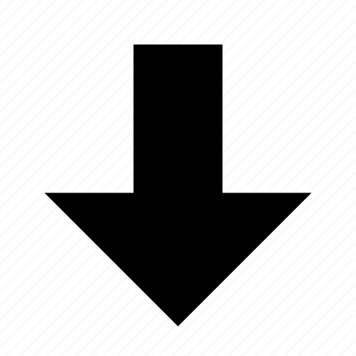 arrow, bottom, down, download, downward, save icon