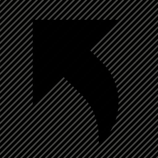 Arrow, corner, diagonal, direction, navigation, top-left, up-left icon - Download on Iconfinder