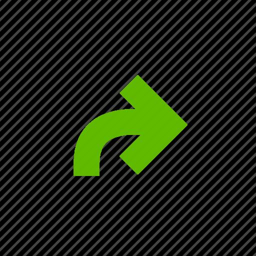 arrow, arrows, direction, location, redo icon