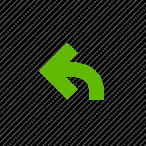 arrow, arrows, direction, location, move, pointer, undo icon