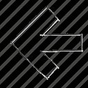 direction, izquierda, left icon