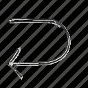 arrow, direction, loop, navigation, repeat