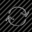 arrow, circular, loop, recycle, reuse, upcycle icon