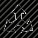 arrow, direction, location, navigation