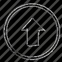 arrow, cloud, direction, navigation, up, upload
