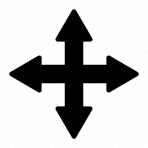 arrow, crossroad, direction, intersection, navigation icon
