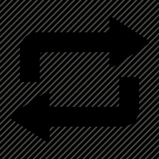 arrow, loop, repeat, sign icon