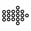 arrow, arrows, direction, dot, navigation, next, right icon