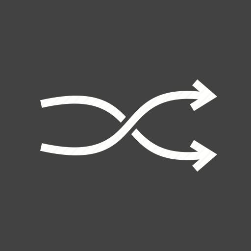 arrow, arrows, back, chart, linear, next, shuffle icon