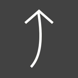arrow, design, direction, pointer, round, sign, up icon