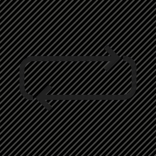 arrow, circle, cycle, dynamic, infinity, loop, looping icon