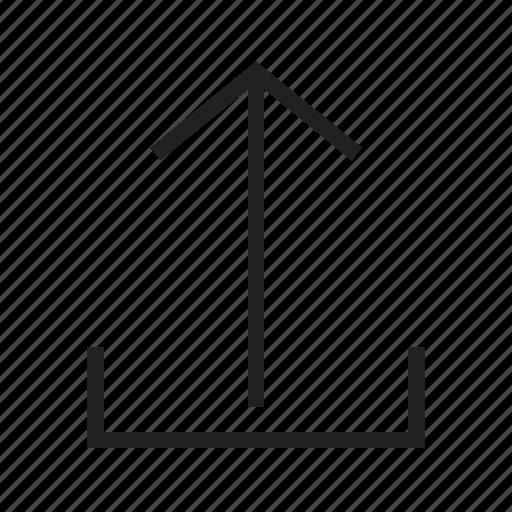 arrow, file, internet, sign, up, upload, uploading icon