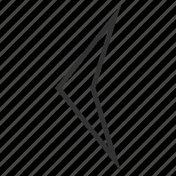 arrow head, arrowhead, direction, left, move, orientation, pointer icon