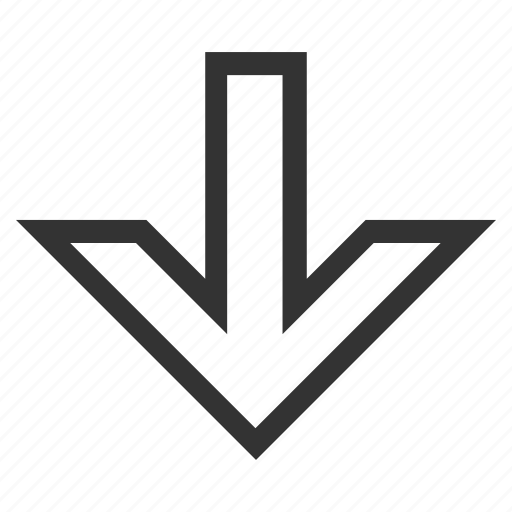direction, down arrow, download, downwards, minimize, move, receive icon